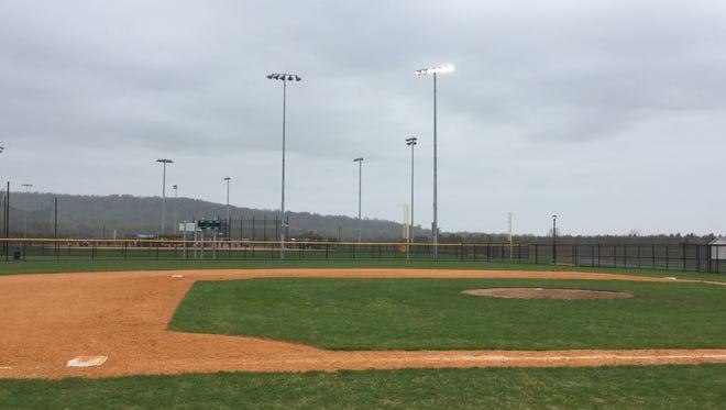 A baseball field at Mountain View Park in Hillsborough.