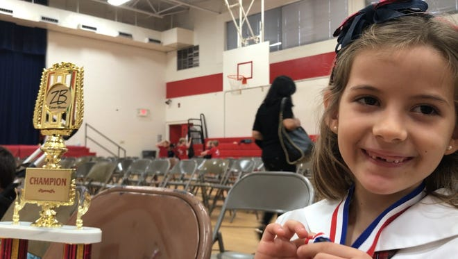 Incarnate Word Academy first-grader Julieta Brusco earned the grand national grade-level champion title for the 2017 Zaner-Bloser National Handwriting Contest.