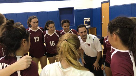 Nyack volleyball head coach Christian Collazo talks