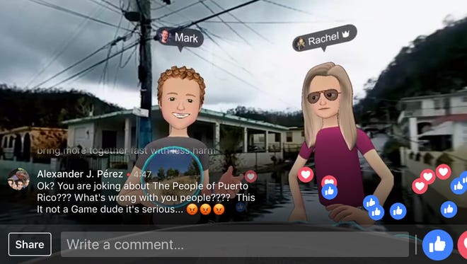 Mark Zuckerberg apologized after a live-streamed virtual trip to hurricane-ravaged Puerto Rico to promote Facebook's Spaces app drew sharp criticism on social media.
