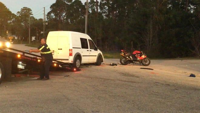 Motorcyclist dies in Melbourne crash.
