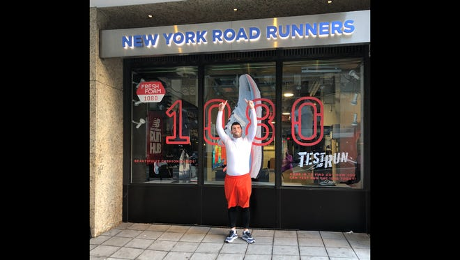 Foot Notes columnist Andy Sandrik poses for a photo during his first New York City run last weekend.