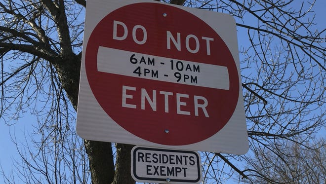 """""""Do Not Enter"""" signs now block out-of-town, rush-hour motorists from 60 residential streets in tiny Leonia each day of the week."""
