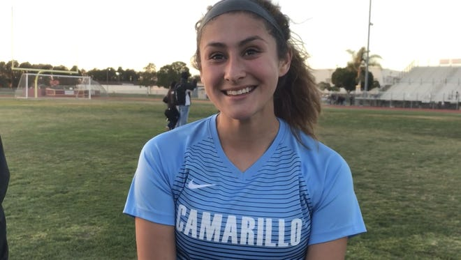 Junior defender Alex Gonzalez scored the decisive penalty kick as the Camarillo High girls soccer team edged host Oxnard, 5-4, on PKs after a scoreless draw in the first round of the CIF-Southern Section Division 3 playoffs Thursday.