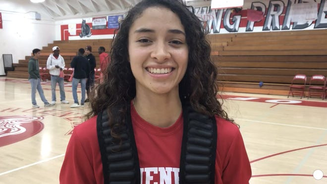 Isabel Ayala scored 21 points to help Hueneme beat Desert Christian Academy, 66-56, on Tuesday night in the CIF Southern California Division V regional semifinals.