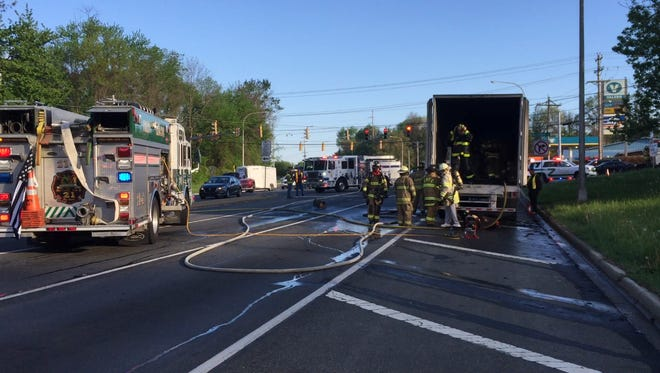 A tractor trailer fire Monday in Milltown affecting early morning traffic.