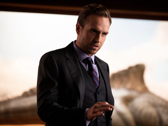 "Rafe Spall plays Eli Mills in ""Jurassic World: Fallen"