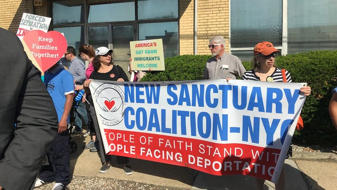 A Father's Day rally took place at an immigration detention center in Elizabeth, N.J., on Sunday, June 17, 2018.
