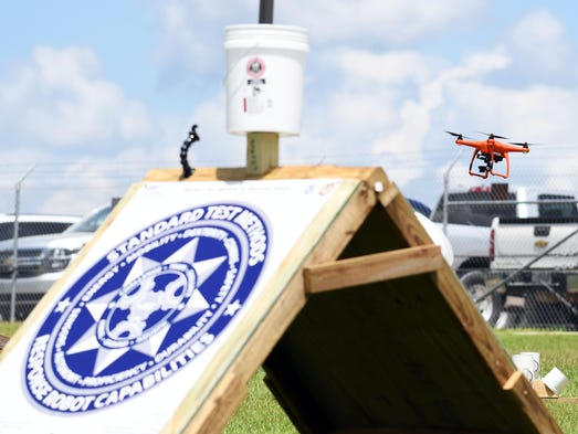 Operators  test and evaluate  small unmanned aircrafts