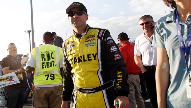 Marcos Ambrose, shown here before the race, slugged Casey Mears after the race in Richmond on Saturday night.