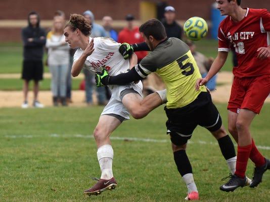 Delsea Boys Soccer loses to Ocean City