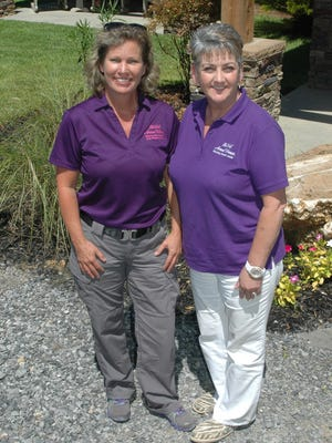 Carrie Lightfoot, founder of The Well-Armed Woman, and and local shooting chapter leader Kim Condon
