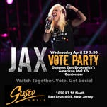 """Jax performs """"White Flag"""" by Dido on """"American Idol"""" on April 22. The East Brunswick singer-songwriter was named to the Top 5 and will come home for a visit Friday."""