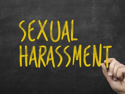 Text sexual harassment on blackboard.