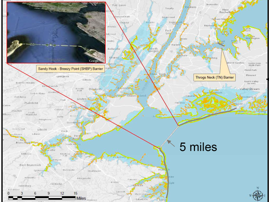 Proposed Hudson River barrier