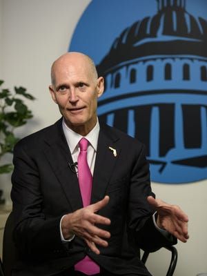 Florida Gov. Rick Scott talks with USA TODAY during Capital Download on Wednesday, Jan. 18, 2017.