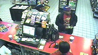 The suspect in a robbery in which $1,800 worth of cigarettes were stolen
