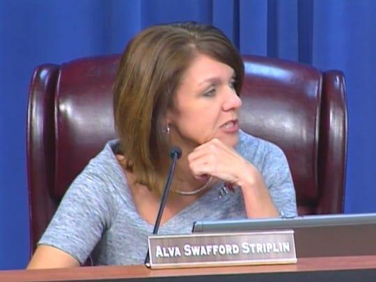 School Board member Alva Striplin