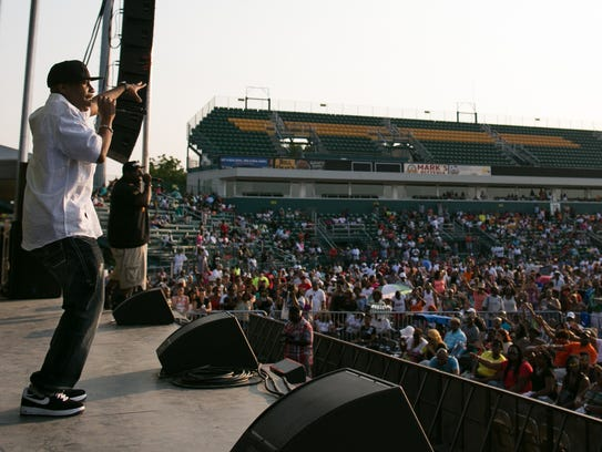 Rob Base performed at SummerFest in Rochester in 2015.