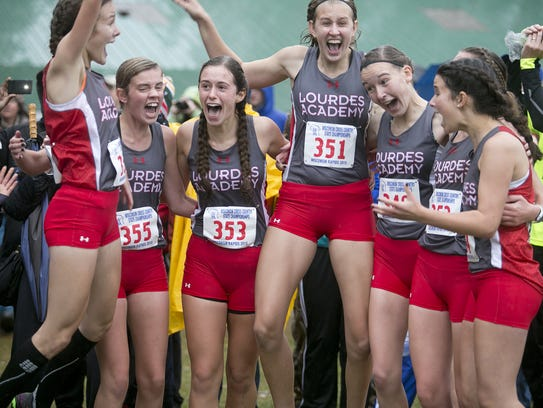 Lourdes Academy celebrates their first place in the