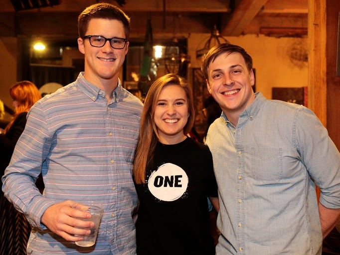 Josh Lee, 20, Lauren Gaffino, 21, and Ryan McKeever,