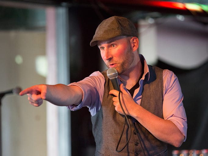 Toby Bradbury of the The Oxymorons Comedy Troupe teaches