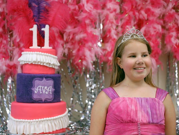Ava Hutchinson celebrates her 11th birthday at the