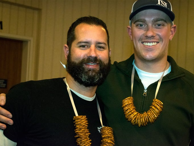Trevor Polland and Kyle Hanna attend the 2017 Brew
