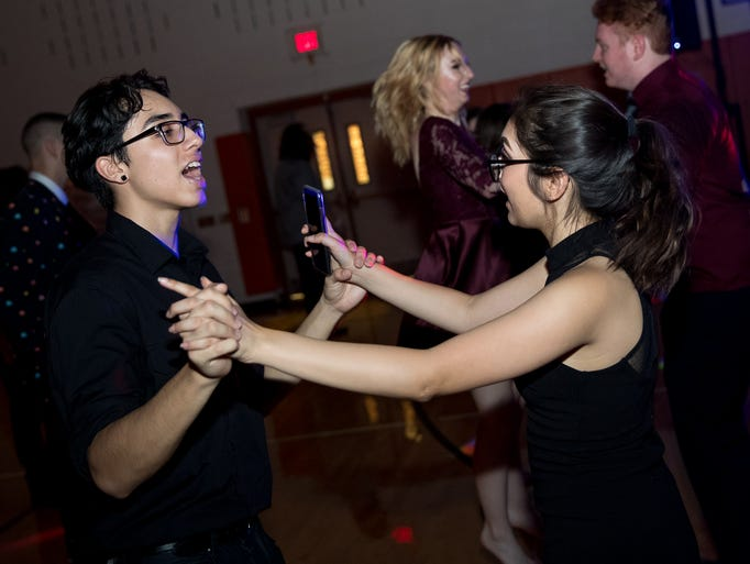 Students attend the Hanover High School homecoming