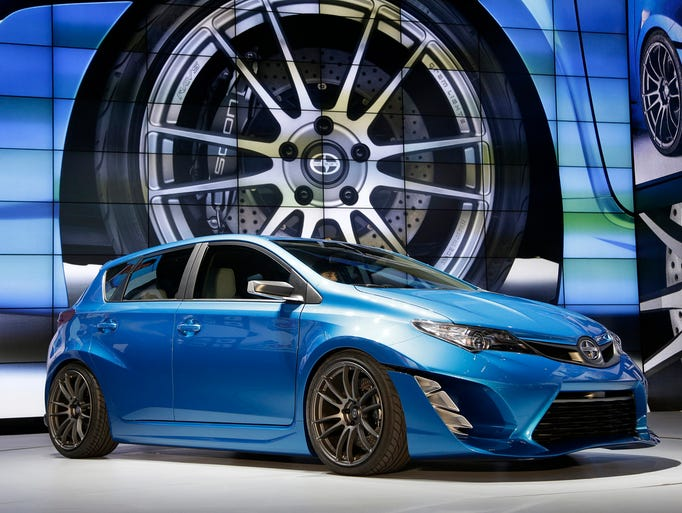 The Scion iM concept is unveiled at the Los Angeles