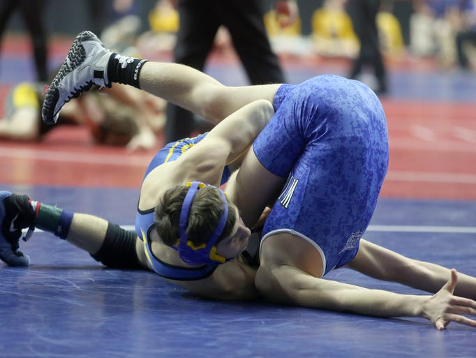 23 photos: Class 1-A Friday action at state wrestling