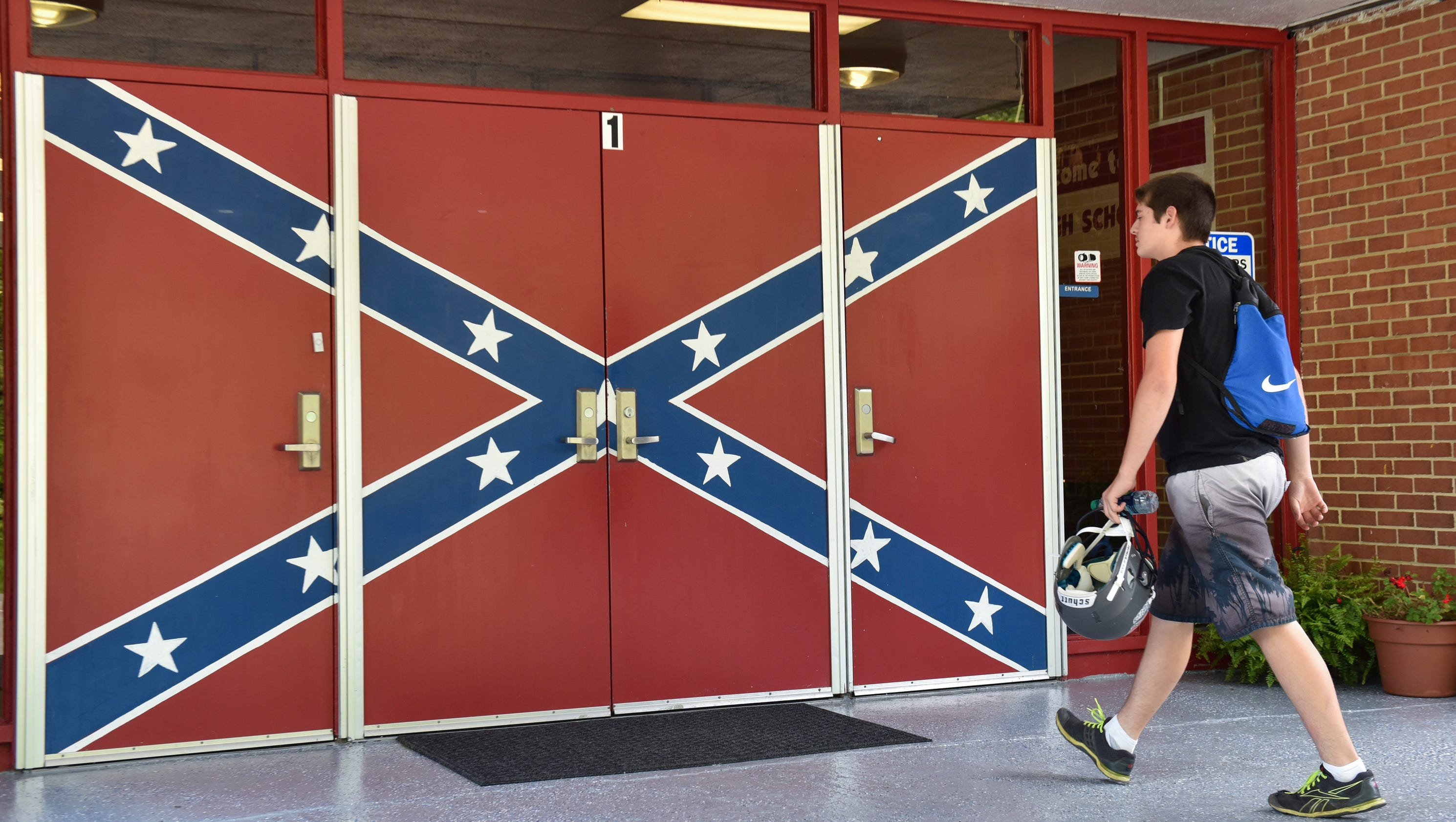 At Hurley High Confederate Battle Flag Is Everywhere And