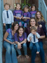 Samantha Buggle (center) with her mom Janine Buggle (left), her friend Elizabeth Percy (right) of Union Beach, her aunt Stephanie McGraw and her brother and cousins.