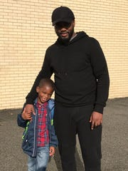 Troy Dancy and his son Tai'er, 5. Tai'er started kindergarten