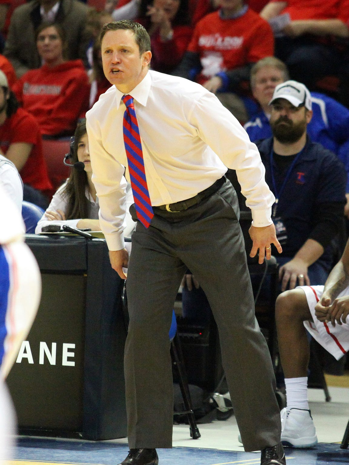 Louisiana Tech coach Michael White is intense on the