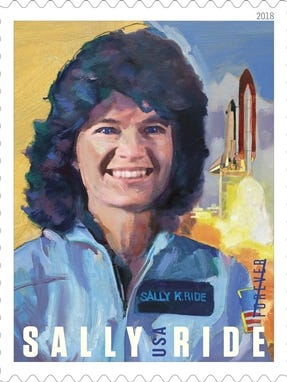 The U.S. Postal Service has issued a Forever stamp honoring Sally Ride, the first American woman in space.