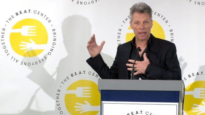 Jon Bon Jovi announces the construction of the B.E.A.T. Center in Toms River.
