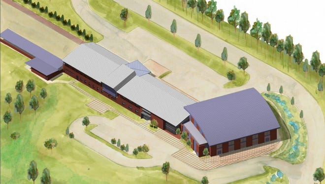 An architect's drawing of the proposed Spring Garden Township municipal complex.