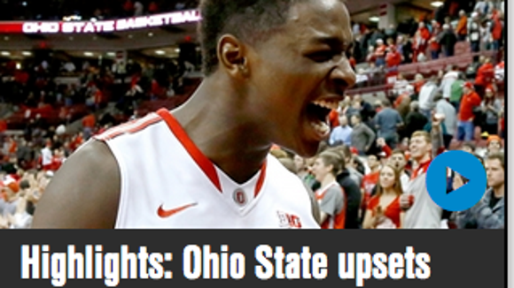 Foxsports.com had this headline with their highlight package, incorrectly labeling Ohio State's win as an upset.
