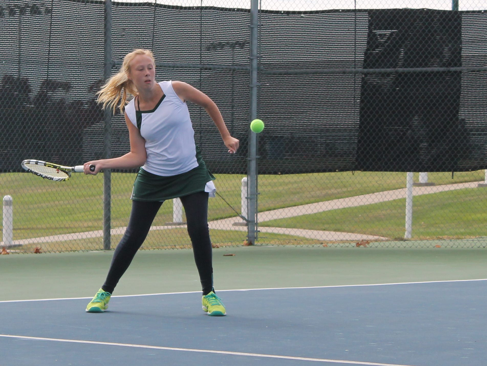 Springfield Catholic junior Emily Kroutil placed fifth in the state in Class 1 singles at Cooper Tennis Complex Oct. 16-17.