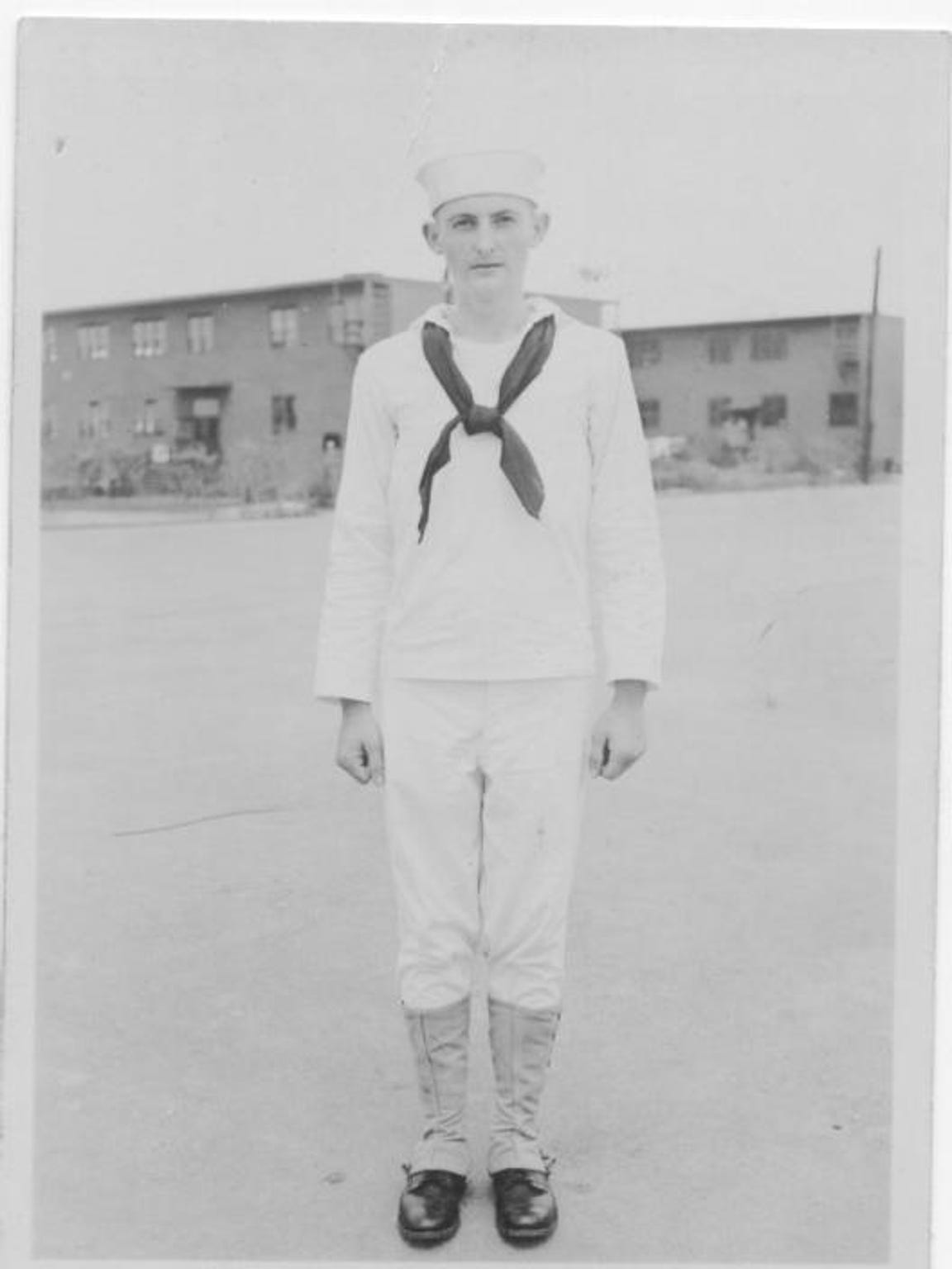 Albert Merkley shortly after he joined the Navy at