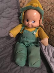 This doll has three different faces, controlled by a knob in the back. Photo was sent in by Jody Schweigert-Mulkey, whose father sold the dolls at his store Joe's (formerly The Beehive) in Hawthorne.