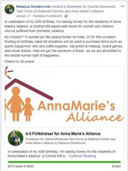 Rebecca Dombrovski posted a fundraiser for Anna Marie's Alliance on Facebook as part of her 40th birthday celebration. It sparked an interest in her to do more for the domestic abuse shelter, including creating tooth fairy pillows for kids living at the shelter.