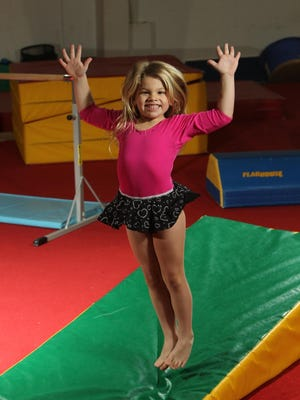 Alexa Haberbush is now a happy, healthy gymnast. Courtesy of Barnabas Health