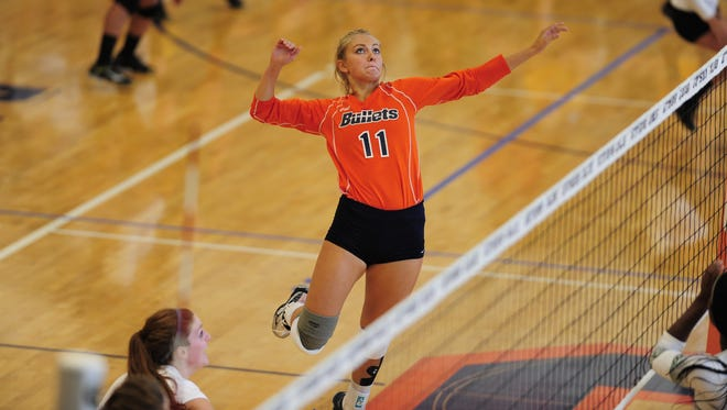 A Gettysburg High School graduate, Maddie Weikert didn't expect to end up at Gettysburg College until she went to the Bullets' volleyball camp.