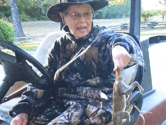 Born in 1918, Bertha Vickers is still chasing the squirrels