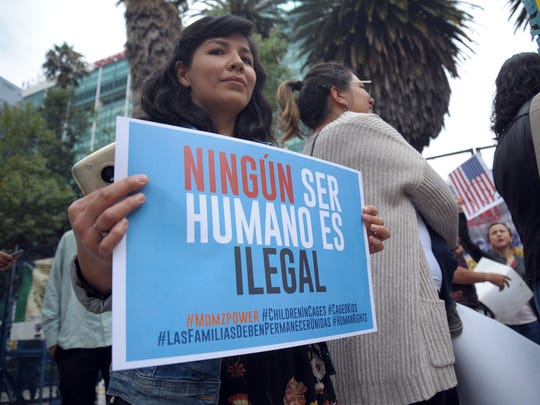 Protesta a favor de la migración.