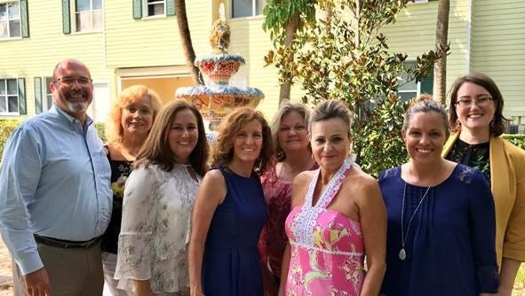 Pret A Danser committe members are, from left, Bill West, Terry Longar, Christina Stamper, Maryellen Castellano, Polly DeLater, Dee Gusch, Amber Ducote, Sarah Baker. Not pictured are Mary DeLater, Bob Castellano and Nancy Hess.