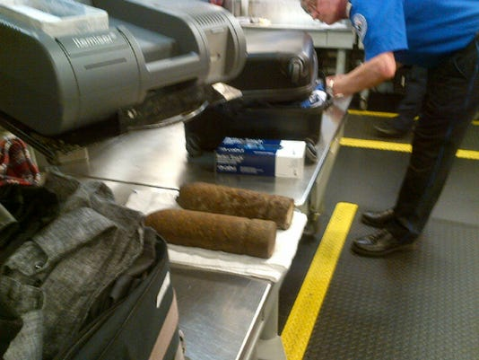 Artillery in luggage