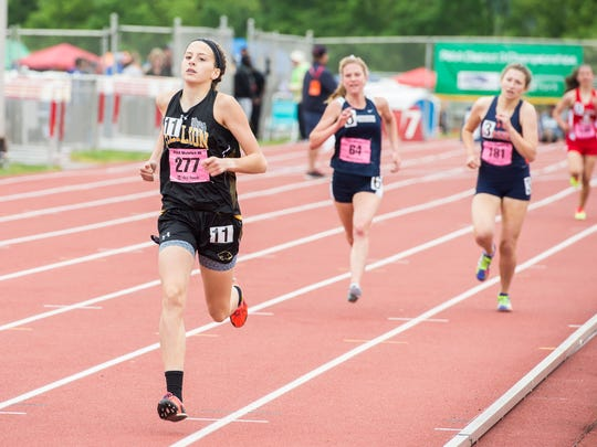 Red Lion's Kiersten Lloyd competes in the 1,600 meter run during the PIAA District 3 track and field championships at Shippensburg University on Saturday, May 20, 2017.